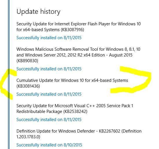 Click image for larger version.  Name:MS UPDATE KB3081436 WENT RIGHT ON.jpg Views:1216 Size:55.8 KB ID:30949