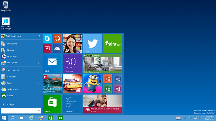 Click image for larger version.  Name:Tech-Preview_Start-menu.png Views:11 Size:1.10 MB ID:31090
