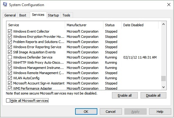 Click image for larger version.  Name:msconfig services screen.jpg Views:184 Size:92.4 KB ID:31400