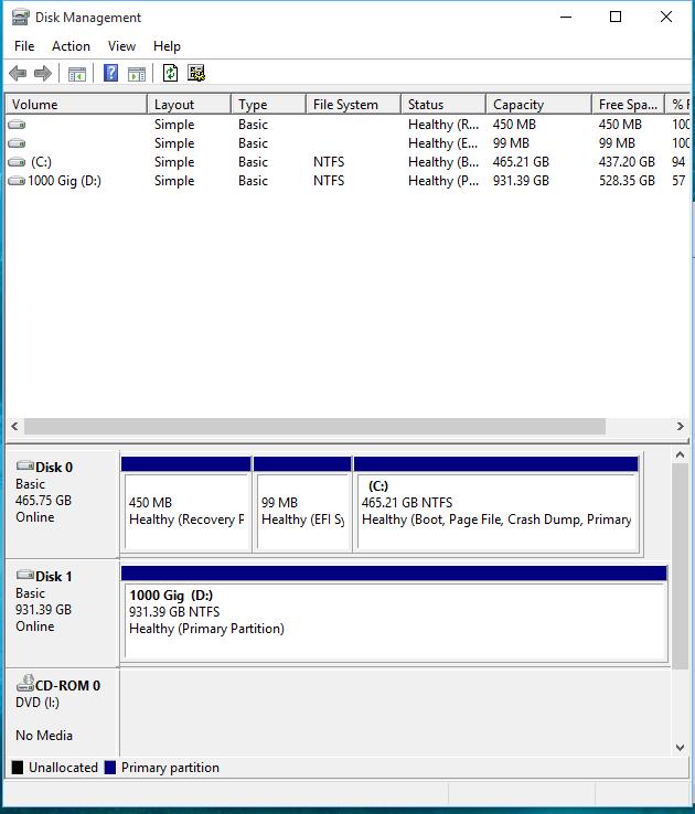Click image for larger version.  Name:Disk Management.PNG Views:49 Size:45.5 KB ID:31909