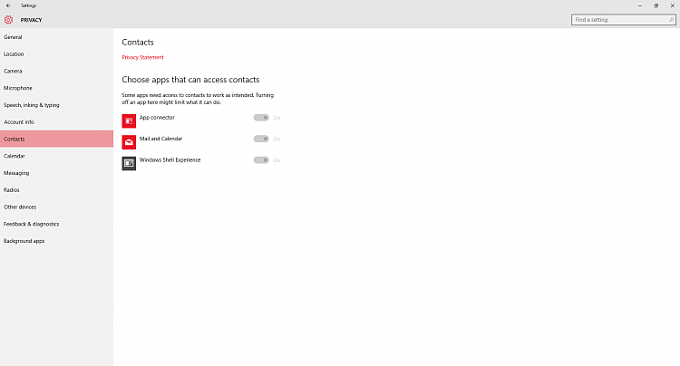 Windows 10: Some privacy settings grayed out - Windows 10 Forums