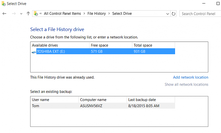 Click image for larger version.  Name:Select drive from within new windows set up.PNG Views:4 Size:22.7 KB ID:32226