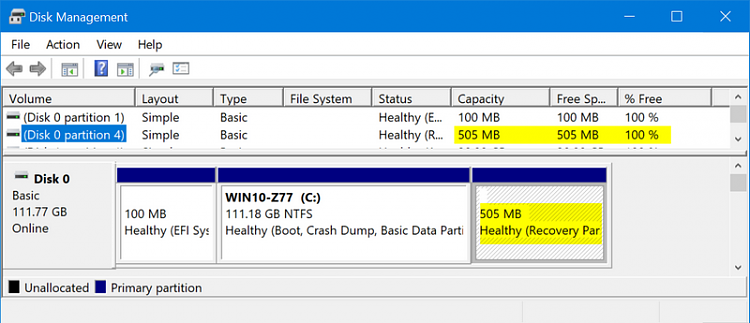How to put back the Windows 10 Pro - Recovery partition ?-ss010.png
