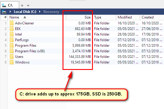 Messed up installing Fences software, now have lost 23GB of SSD-xyplorerfree.png