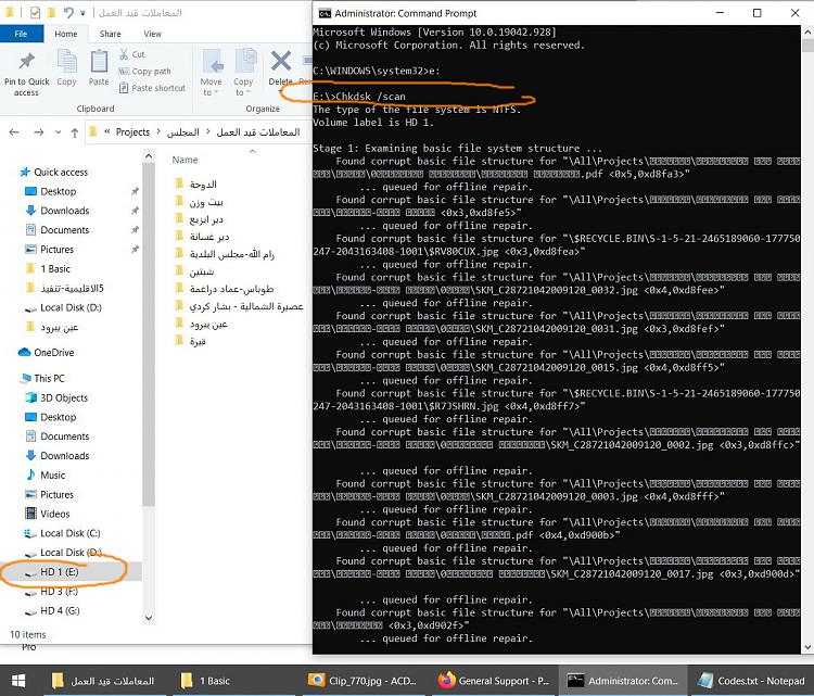 Windows 10: How to delete folders that are indicated as corrupted or u-clip_771.jpg