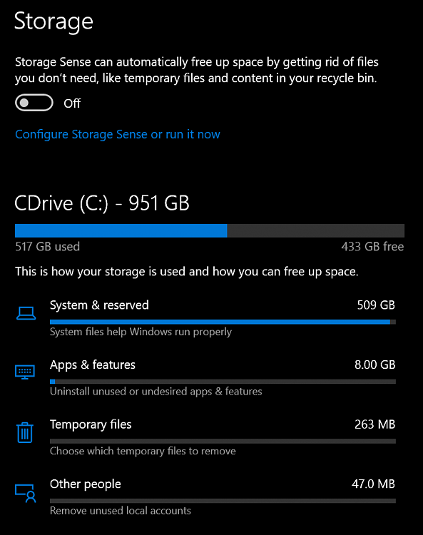 Storage showing as double the actual SSD size-set.png