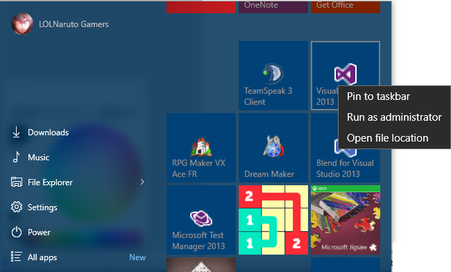 Click image for larger version.  Name:start menu.png Views:62 Size:103.7 KB ID:33392