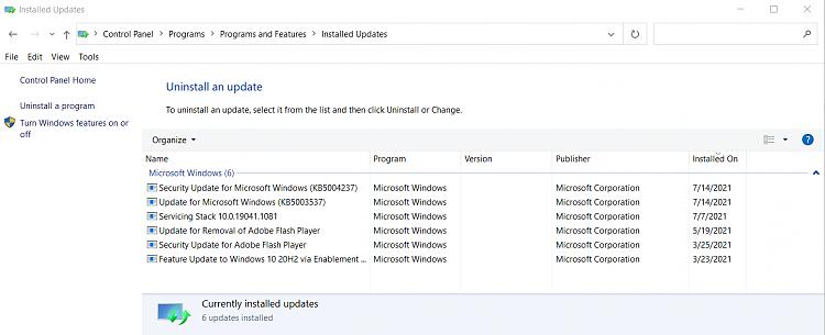 backspace key behavior changed-installed-updates.png