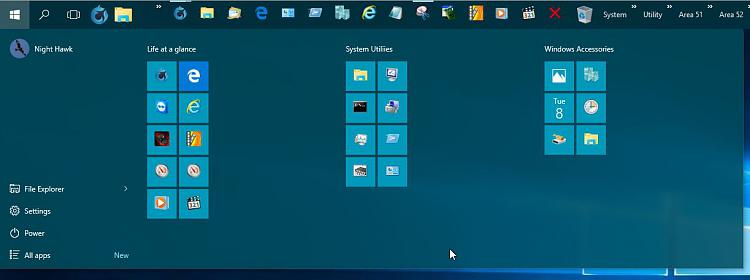 Click image for larger version.  Name:Start Menu Widened Out.jpg Views:1 Size:51.9 KB ID:36500