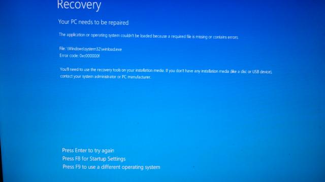 After Interrupted HD Repair Windows 10 wont boot - Windows ...
