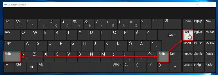 How To Press Two Botton In On Screen Keyboard