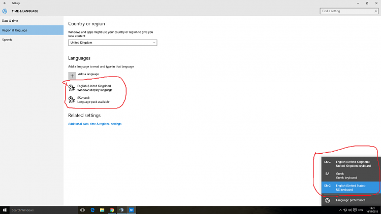 how to change keyboard input windows 10