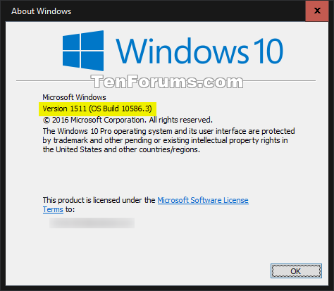 windows 10 1511 update