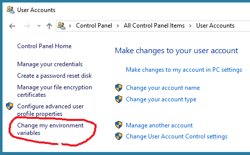 How do I change environment variables in regular User account??? - Windows  10 Forums