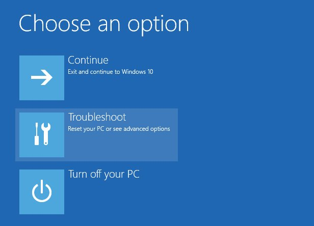 Recovery options gone ? Solved - Windows 10 Forums