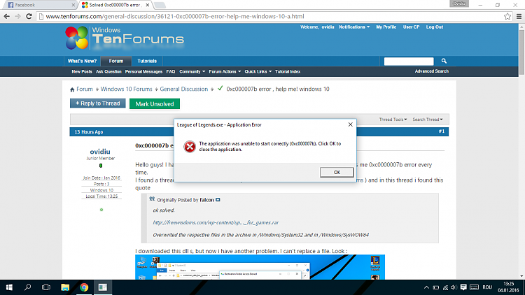0xc000007b error , help me! windows 10 Solved - Windows 10 Forums