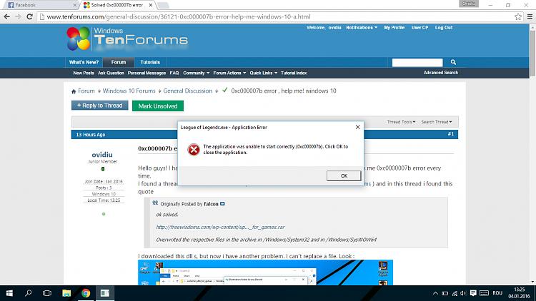 0xc000007b error , help me! windows 10 Solved - Windows 10
