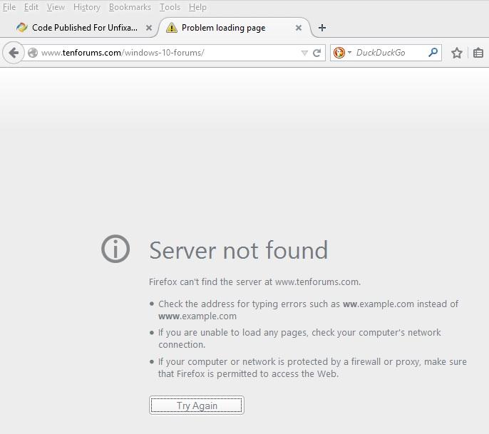 Windows 10 bugs-server-not-found.jpg