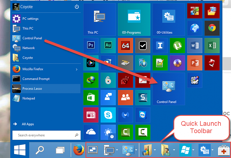 Don't forget - useful apps on RIGHT mouse click on Start-.png