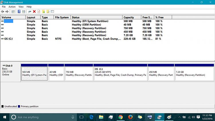 how to delete hp recovery partition windows 10