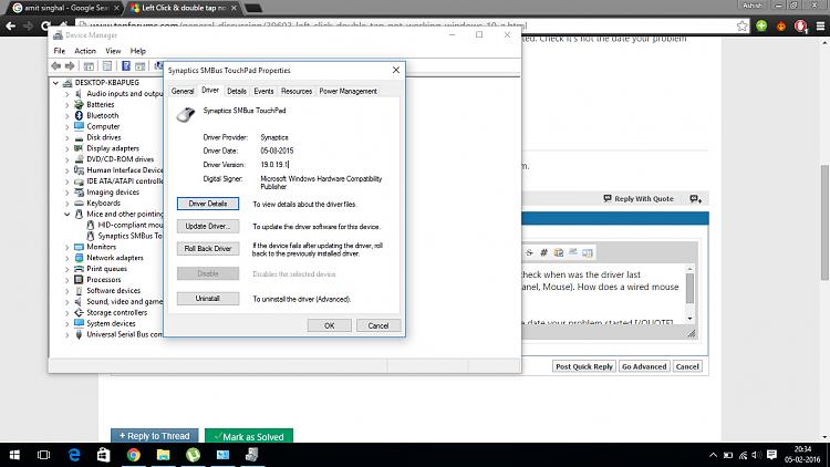 Left Click \u0026 double tap not working in windows 10! - Windows 10 Forums