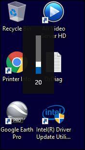 Volume indicator upper left of screen - Windows 10 Forums