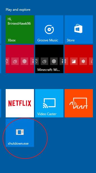 Click image for larger version.  Name:Shutdown ..... pin to Start..jpg Views:10 Size:75.6 KB ID:70173