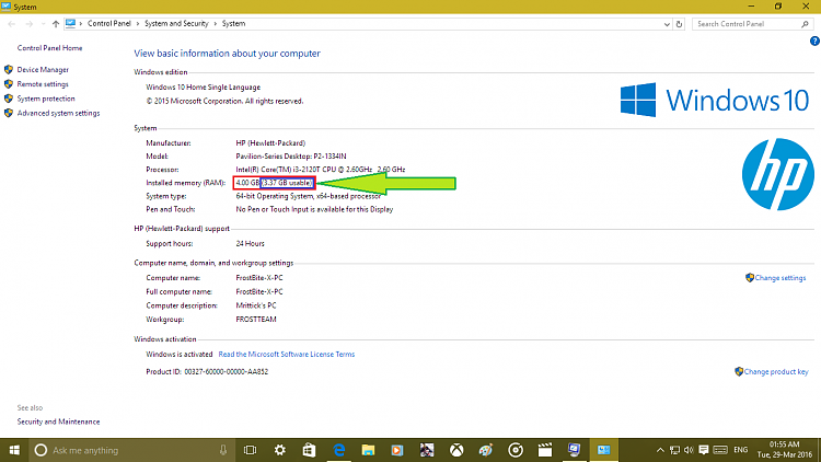how to use all ram windows 10