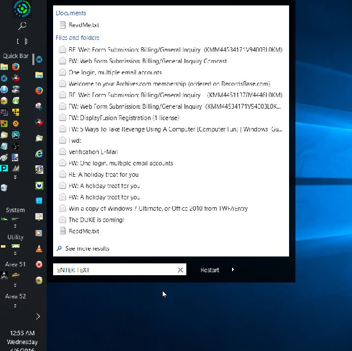 Click image for larger version.  Name:Stardock START10 Search Programs and Files Option.jpg Views:1 Size:75.2 KB ID:73314