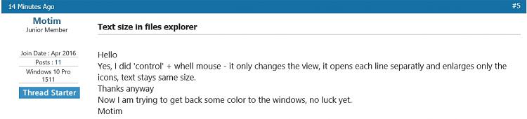 how to change font size in windows 10 explorer