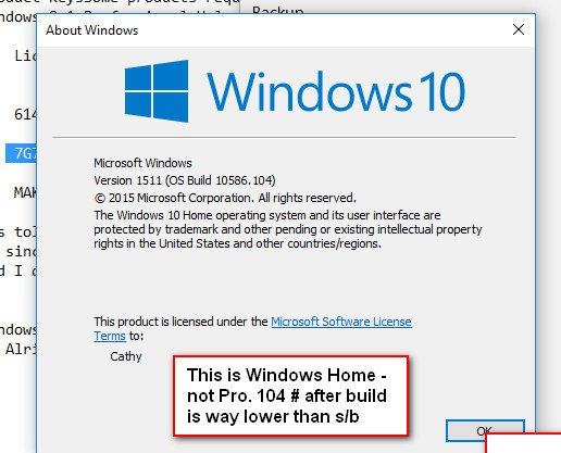 Click image for larger version.  Name:Winver after clean install with latest ISO.jpg Views:11 Size:78.5 KB ID:77886