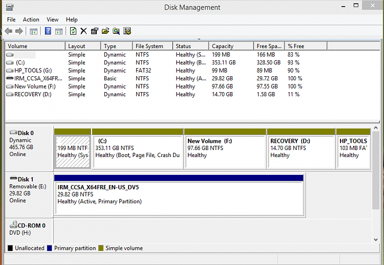 HP g Series Laptop Disk Management.PNG