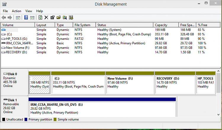 Click image for larger version.  Name:HP g Series Laptop Disk Management.PNG Views:82 Size:49.0 KB ID:7860