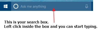 Click image for larger version.  Name:Cortana search box..jpg Views:7 Size:27.6 KB ID:78675