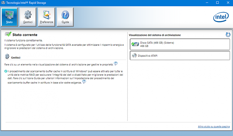 Asus G750JW Intel RST Vista