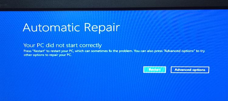 windows 10 how to get to automatic repair
