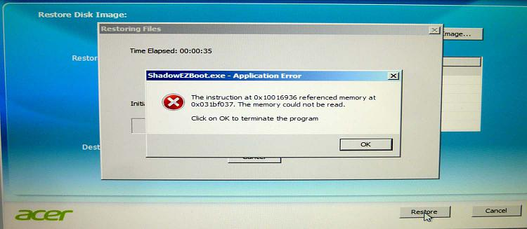 Click image for larger version.  Name:Restore failed.jpg Views:4 Size:84.7 KB ID:85109