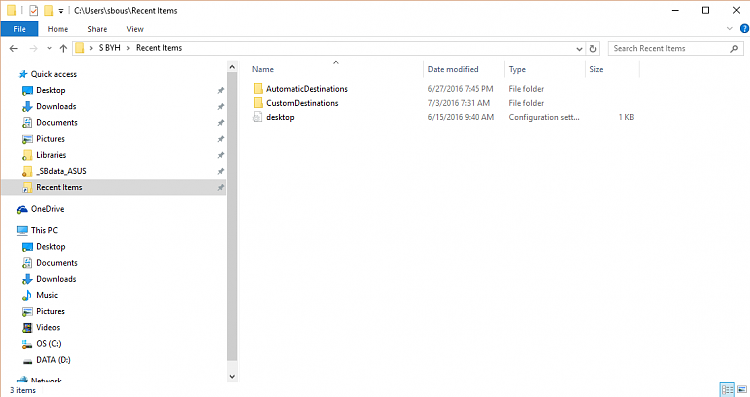 File Explorer Quick Access has Recent Folders pinned but it vanishes..-recent-items1.png