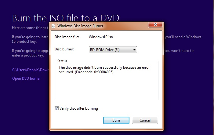 Burning ISO Solved - Windows 10 Forums