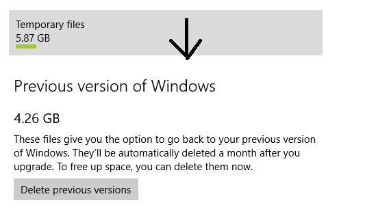 windows 10 how to delete old windows