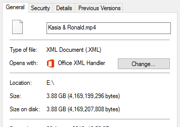Mp4 File Opens On Personal Laptop As Xml Document File Windows 10