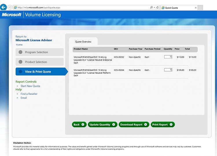 microsoft windows 10 volume license price
