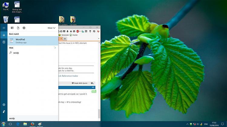 Search using WinKey+query-wordpad.jpg