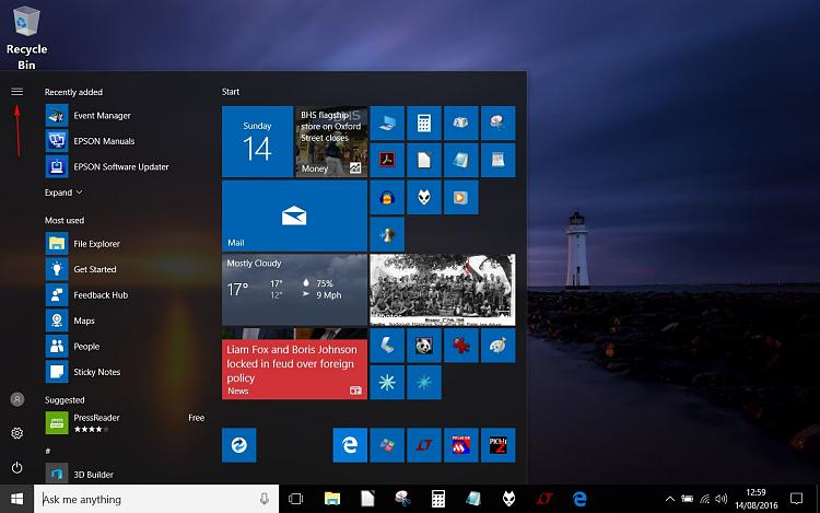 Start Menu. Possibly a self inflicted problem. It is to small.-acer-start-menu-2.jpg