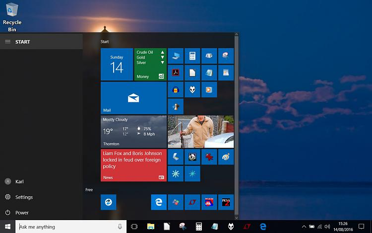 Start Menu. Possibly a self inflicted problem. It is to small.-capture1.jpg