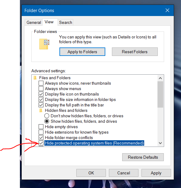 how to delete hidden thumbs.db file