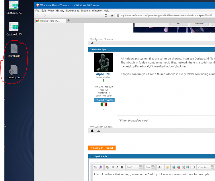 Windows 10 and Thumbs.db - Windows 10 Forums