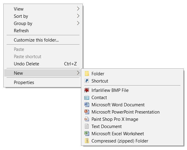 """How to remove items from Explorer right-click """"New"""" menu?-new.png"""