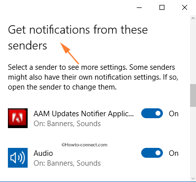 How to clear applications in Get notifications from these senders-9566_get_notifications_from_these_senders.png