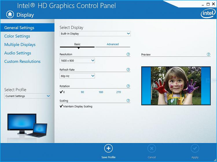Picture too big for TV monitor Solved - Windows 10 Forums